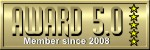 AWARD Rating 5.0 Badge